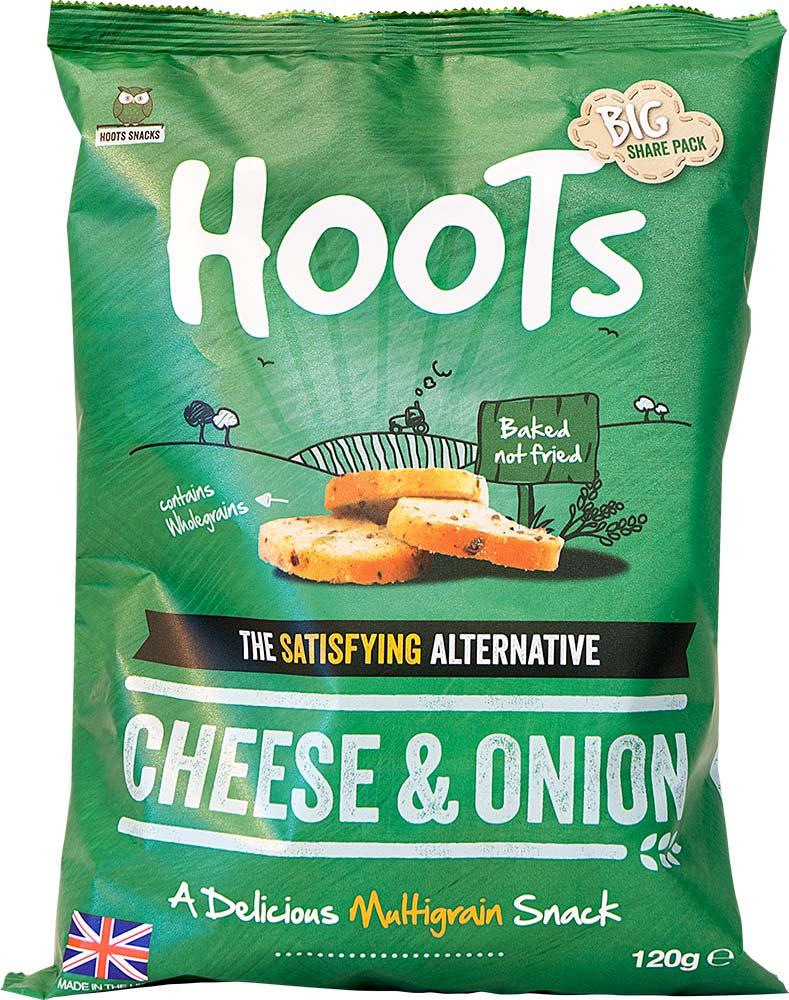 Cheese & Onion flavour multigrain snack