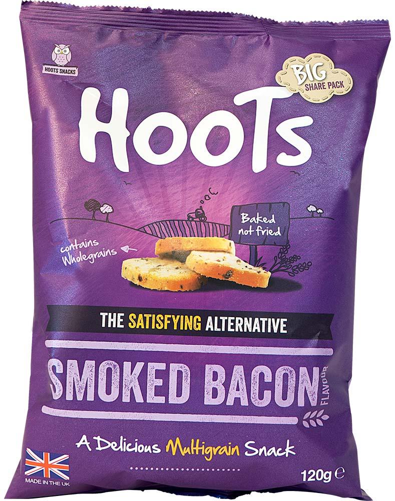 Smoked bacon multigrain snack